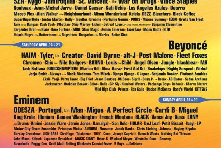 Beyoncé, Eminem, The Weeknd, Travis Scott and more to headline Coachella and Governor's Ball 2018